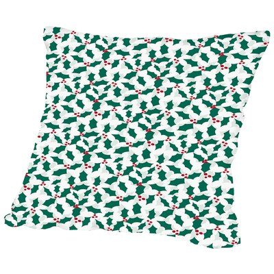 Holiday Holly Throw Pillow Size: 20 H x 20 W x 2 D