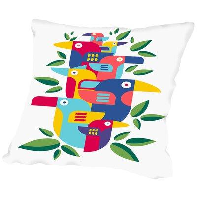 Toucans Throw Pillow Size: 20 H x 20 W x 2 D
