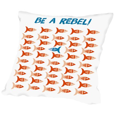 Rebel Fish Place Throw Pillow Size: 20 H x 20 W x 2 D