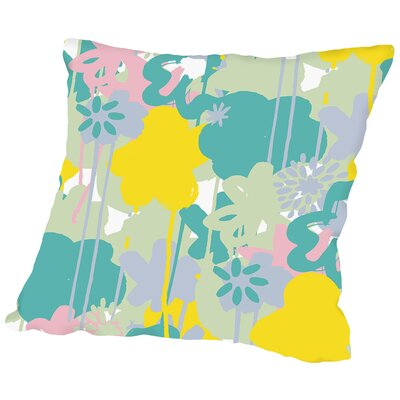 Brushed Bouquet Throw Pillow Size: 14 H x 14 W x 2 D, Color: Pastel