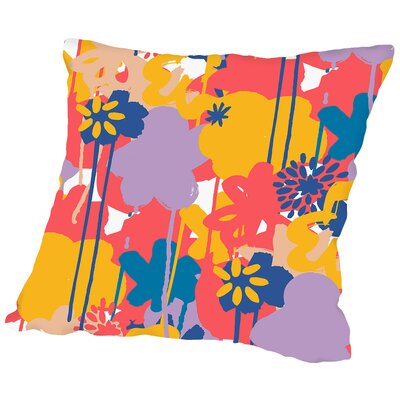 Brushed Bouquet Throw Pillow Size: 14 H x 14 W x 2 D, Color: Bright