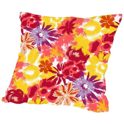 Floral Frenzy Throw Pillow Size: 14 H x 14 W x 2 D