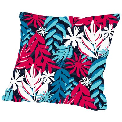 Havana Tropics Throw Pillow Size: 14 H x 14 W x 2 D