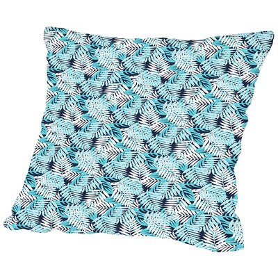 Tropical Fern Throw Pillow Size: 18 H x 18 W x 2 D, Color: Blue