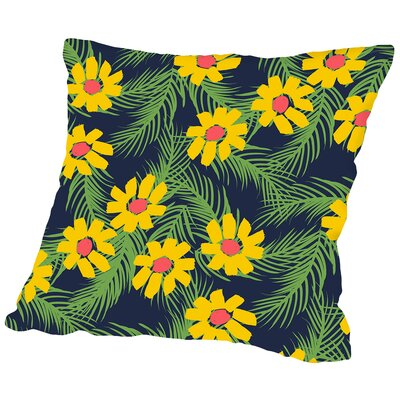 Midnight Jungle Throw Pillow Size: 14