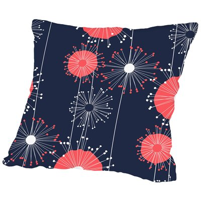 Dandelions Throw Pillow Size: 16