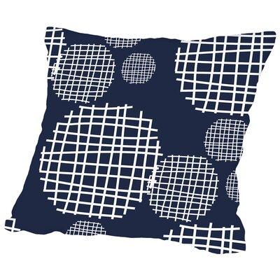 Circle Grids Throw Pillow Size: 16 H x 16 W x 2 D