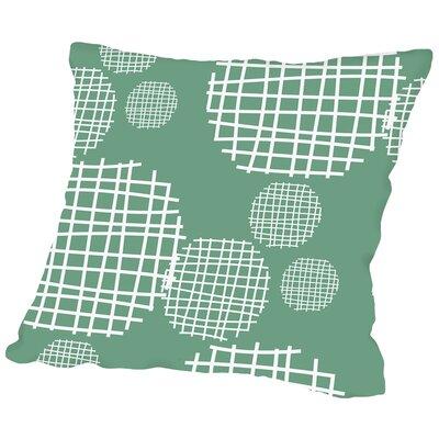 Circle Grids Throw Pillow Size: 18 H x 18 W x 2 D