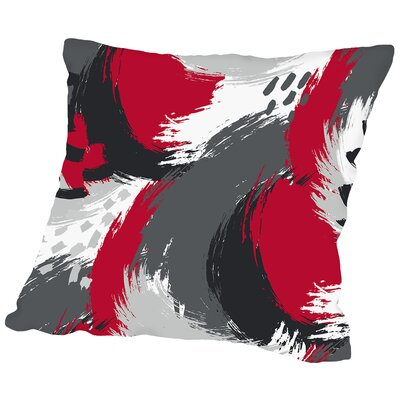 Brushed Ripple Throw Pillow Size: 18 H x 18 W x 2 D, Color: Gray