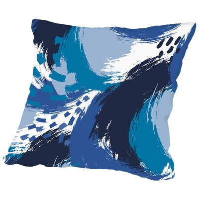 Brushed Ripple Throw Pillow Size: 14 H x 14 W x 2 D, Color: Blue