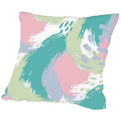 Brushed Ripple Throw Pillow Size: 18 H x 18 W x 2 D, Color: Pastel