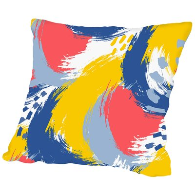 Brushed Ripple Throw Pillow Size: 14 H x 14 W x 2 D, Color: Bright