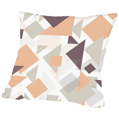 Scattered Angles Throw Pillow Color: Orange, Size: 18 H x 18 W x 2 D
