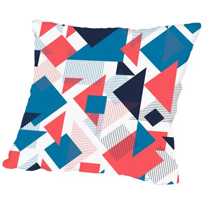 Scattered Angles Throw Pillow Size: 16 H x 16 W x 2 D, Color: Blue