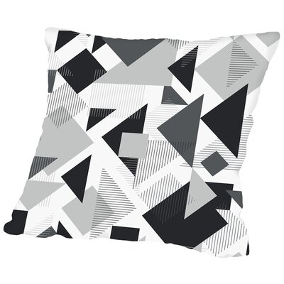 Scattered Angles Throw Pillow Size: 18 H x 18 W x 2 D, Color: Black