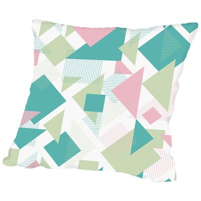 Scattered Angles Throw Pillow Size: 14 H x 14 W x 2 D, Color: Pastel