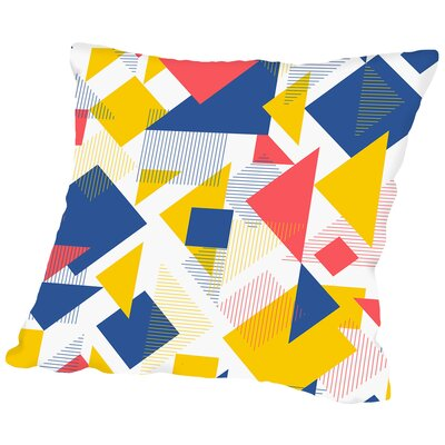 Scattered Angles Throw Pillow Size: 14 H x 14 W x 2 D, Color: Vivid