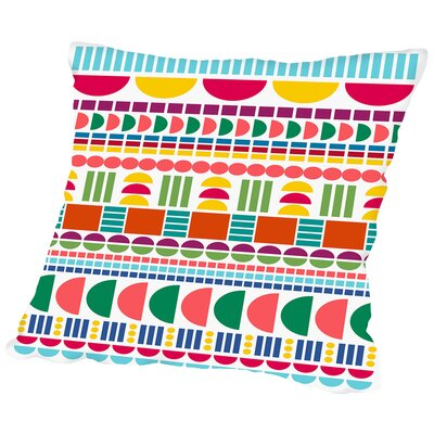 Geo Candy Throw Pillow Size: 16 H x 16 W x 2 D