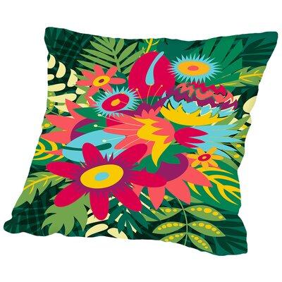 Tropical Bouquet Throw Pillow Size: 18 H x 18 W x 2 D