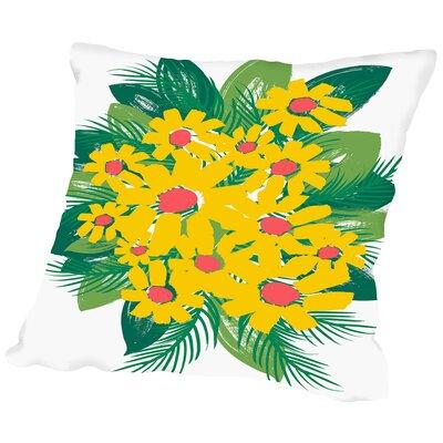 Sunburst Bouquet Throw Pillow Size: 16 H x 16 W x 2 D