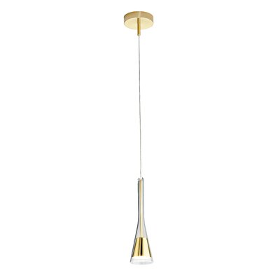 1-Light Round Canopy Pendant Finish: Polished Brass
