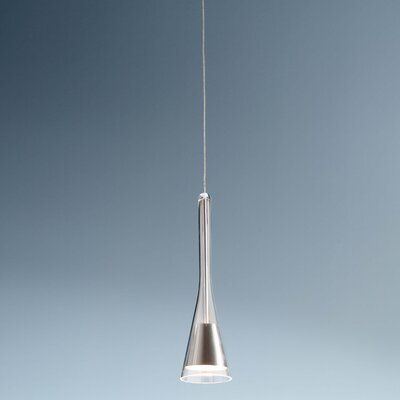 1-Light Round Canopy Standard Pendant Finish: Satin Nickel