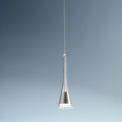 1-Light Round Canopy Pendant Finish: Satin Nickel