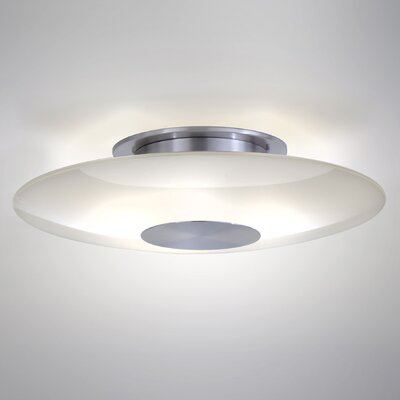 Ceiling Fixture Semi-Flush Mount Size: Large, Finish: Satin Nickel