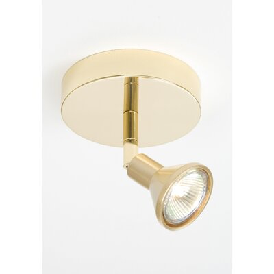 1-Light Semi Flush Mount Finish: Brushed Brass