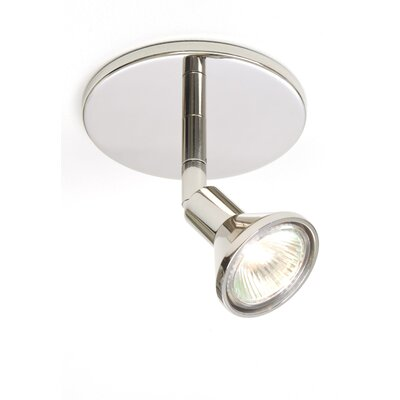 1-Light Round Canopy Direct Connect Spot Light Finish: Chrome