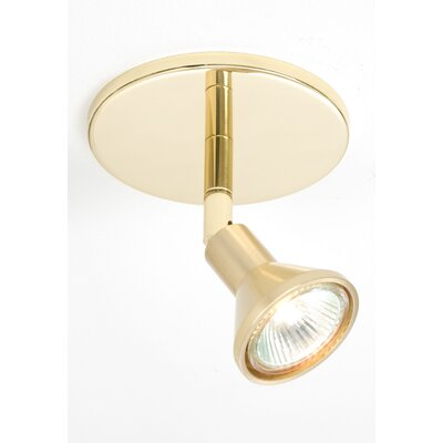 1-Light Round Canopy Direct Connect Spot Light Finish: Polished Brass