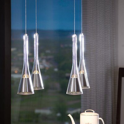 Diamond Canopy The Note Pendant Finish: Chrome