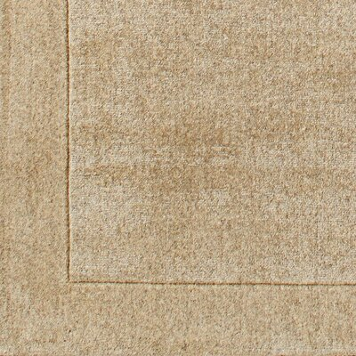Cruse Hand-Woven Wool Sand Area Rug Size: Rectangle 6 x 9
