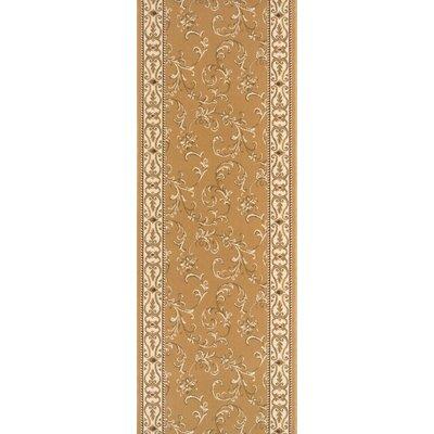 "Rivington Rug Zealous Dean Cinnamon Stick Gold Area Rug - Rug Size: Runner 2'7"" x 10'"