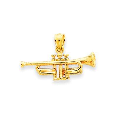 14K Trumpet Pendant