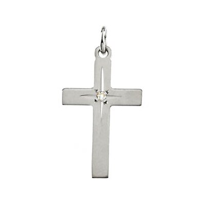 Jewelryweb 14k White Gold Cross PendantWith Diamond 22x14mm at Sears.com