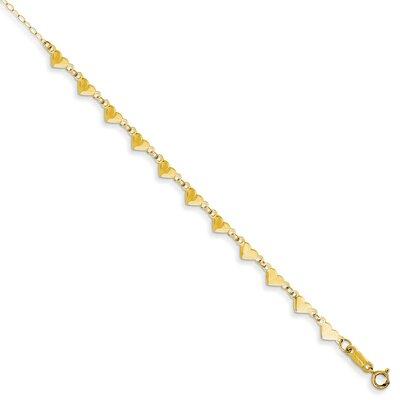 Jewelryweb HeartsLinkChainAnkle Bracelet