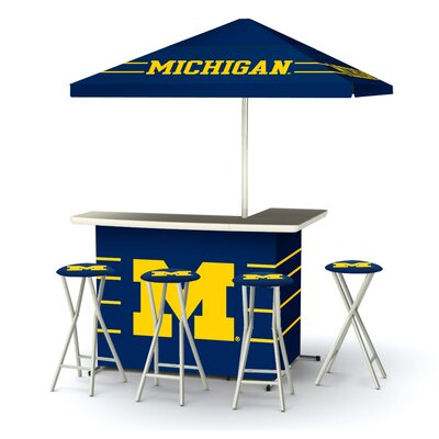 NCAA Deluxe Bar Set Team: University of Michigan