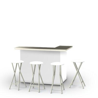8 Piece Patio Bar Set Color: White