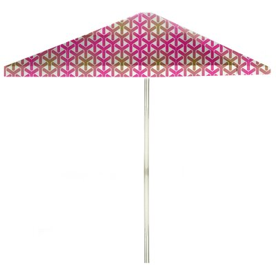 8 Square Market Umbrella Color: Gold/Pink/White