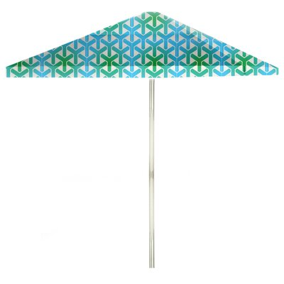 8 Square Market Umbrella Color: Green/Blue/White