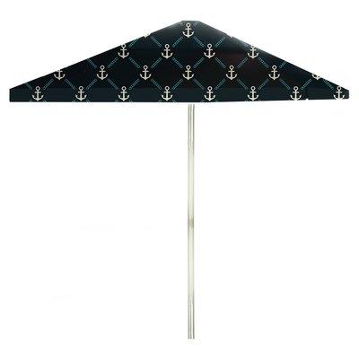 8 Square Market Umbrella Color: Gray/Teal/Navy