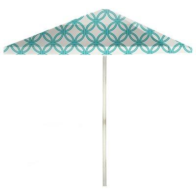 8 Square Market Umbrella Color: Teal/White