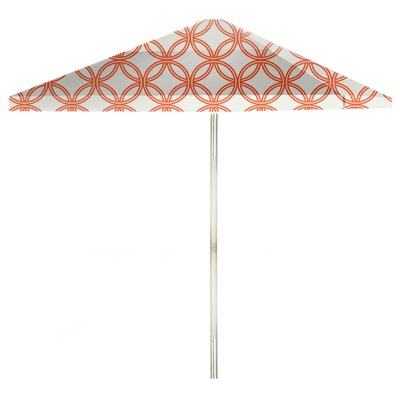 8 Square Market Umbrella Color: Orange/White