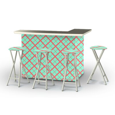 8 Piece Patio Bar Set Color: Sherbet