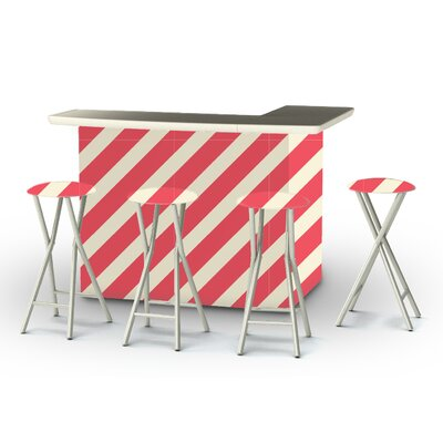 8 Piece Patio Bar Set Color: Peppermint