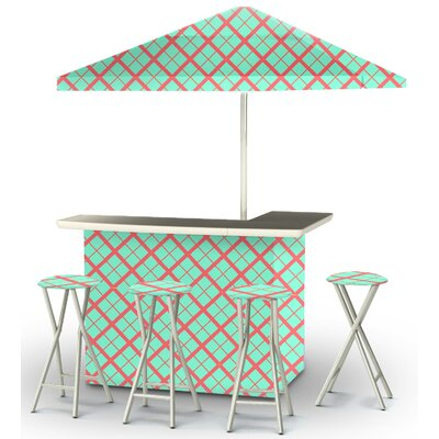 9 Piece Patio Bar Set Color: Sherbet