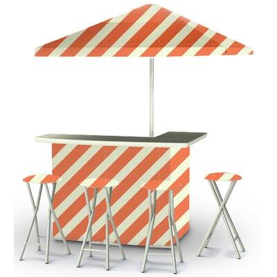 9 Piece Patio Bar Set Color: Orange/Sherbet