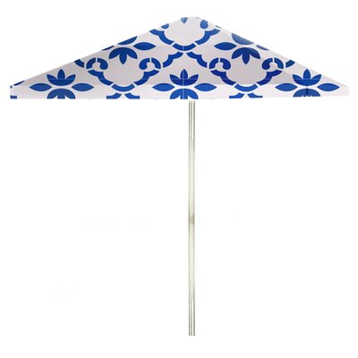 8 Square Market Umbrella Color: Celtic Blue/White