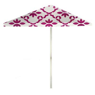8 Square Market Umbrella Color: Magenta/White